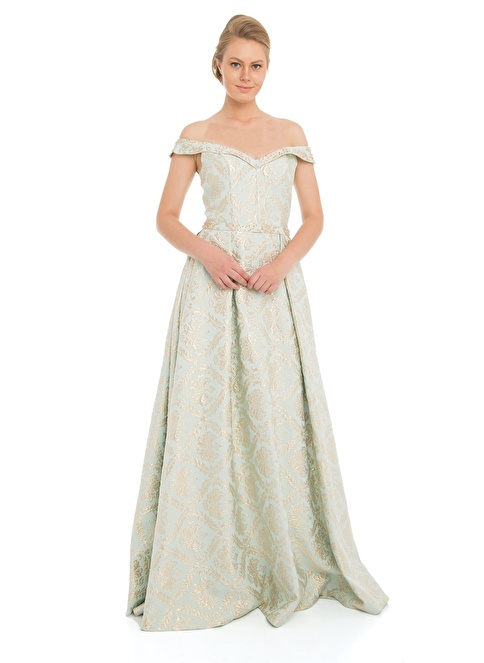Pierre Cardin Straplez Abiye Elbise Yeşil